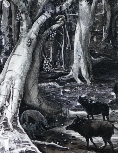 Forest at Night - detail